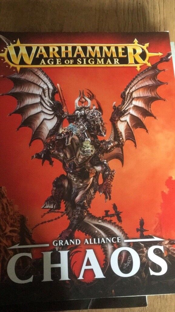 Warrhammer age of sigmar grand alliance chaos & the ultimate warhammer