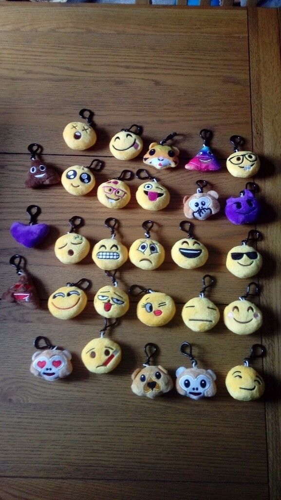 Emoji soft key rings