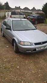 Honda Civic 1.6i Ls 5 Door Hatchback . Silver . Electric Windows and Sunroof . Central Locking .