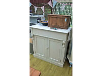 Refurbished sideboard chiffonier cupboard with drawer - shabby chic