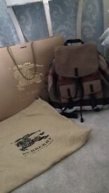 Genuine Burberry backpack
