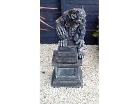 Gatgoyle on a plinth