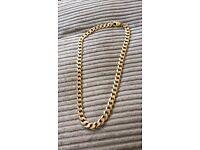 Heavy 9ct gold curb chain 166.1grams