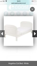 East coast cot bed and mattress brand new