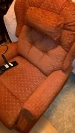 Chair -Motorised disabled riser and recliner. Good clean condition.