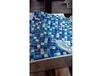 Mixed colour mosaic tiles (11 sheets per box)