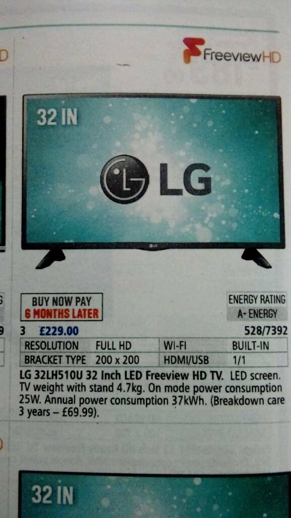 """LG 32"" TV"" IMMACULATE CONDITION!!"