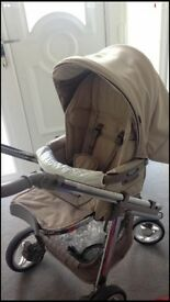 Bebe car pram hip hop tech with car seat 1year old very well looked after