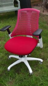 Beautiful office Chair RED Or Chairs used Bargain up down swivel Recline Bargain up to 24 available