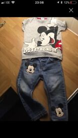 Next Mickey Mouse outfit 12-18months