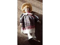 Doll with porcelain head...GONE NOW THANKS DONNA