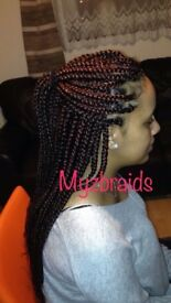Hair braids extensions £40 single plaits