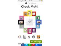 Multicoloured picture frame clock