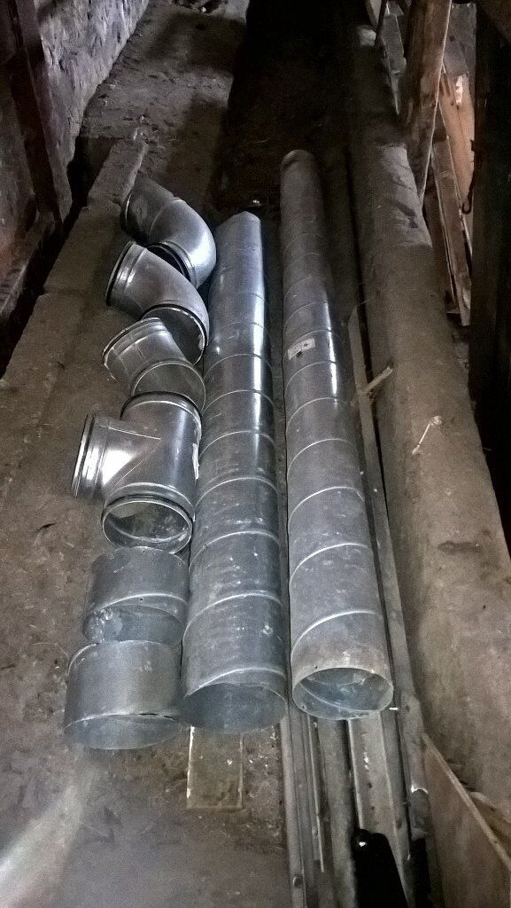 150mm Galvanised Ducting & Bends