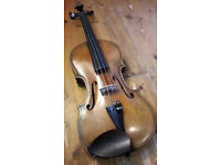 Maggini copy antique violin - early 20th century German, professionally restored & set-up