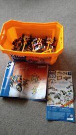 Big box of Knex construction toy