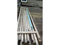 Scaffolding 2 2m Towers , dozen 3.5m poles , 2 planks