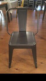Gun grey metal chair/s