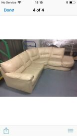 Italian leather corner sofa