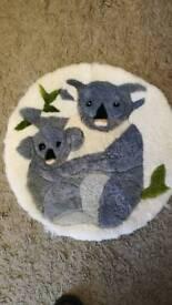 Genuine Sheepskin Mat Koala design