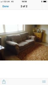 Oak furniture land 3 & 2 seater sofa. As new
