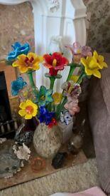 Long Stem Glass Flowers