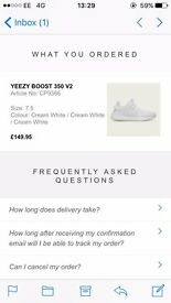 Yeezy Boost 350 V2 Cream White UK 7.5