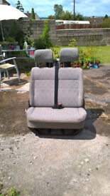 STATIC DOUBLE BENCH SEAT for T4 VW van