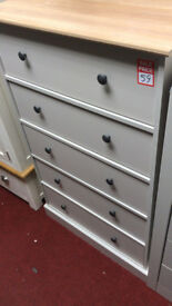 kensington 5 drawer chest two tone