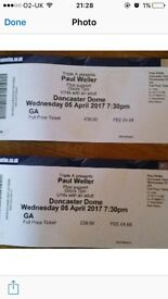 Paul Weller tickets X 2 for Doncaster Dome 05/04/2017