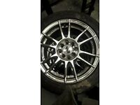 "15"" alloy wheels, came of a Del Sol 1994 Vti 100x4 multifit with I think 104x4 4 500 miles on tyres."