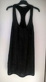 Warehouse black sequin dress size 6