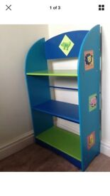 Blue & Green Child's Bookcase