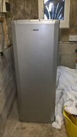 Beko tall Larder fridge in Silver Grey.