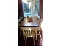 Lovely upcycled table and five chairs