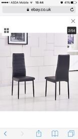 Set of 4 dining chairs black