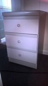Grey bedside drawers