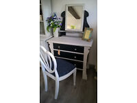 REDUCED*** Dressing table with mirror - art nouveau shabby chic with chair!