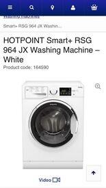 hotpoint washing machine RSG 964 J ONLY 4 MONTHS OLD!