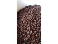 Coffee beans. We roast arabicas.