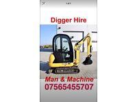 Digger &man hire
