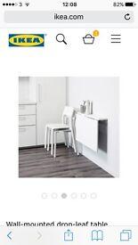 Norberg Ikea Folding Table. White.