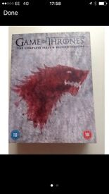 Game of Thrones season 2 and 1