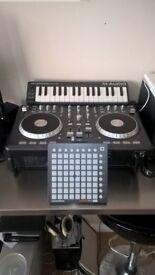 numark mixtrack pro dj controller , novatoon launchpad mini,maudio keybord mint condition