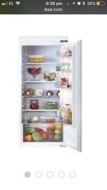 Ikea integrated 3/4 size fridge good condition only 2 years old
