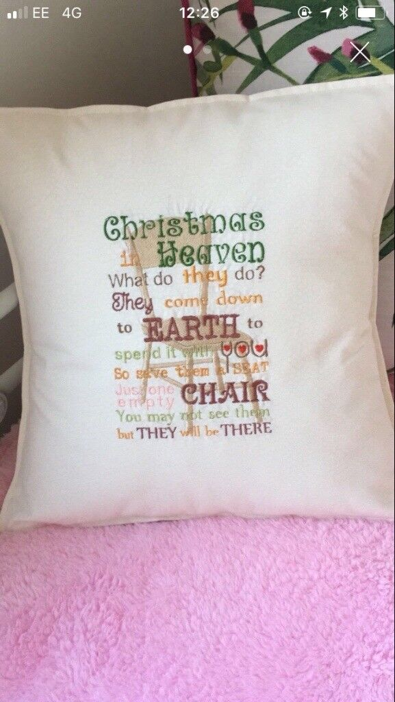 "Hand made ""Empty Chair""Cushion"