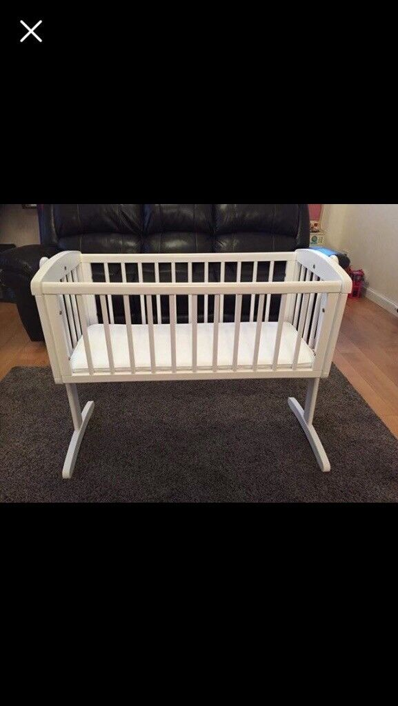 Mothercare rocking crib with mattress (like new condition)