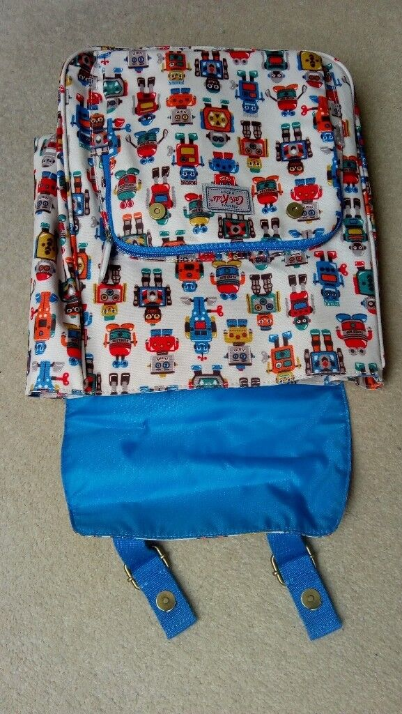 Cath Kidston Robot Backpack Kids With Blue Straps In