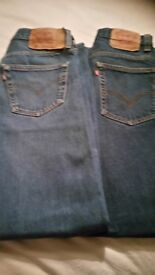2 x pairs levi jeans