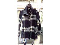 Barrage - Ladies Check Fleece Coat - Size L